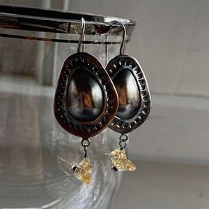 Rare! SILPADA Sterling Silver Citrine Earrings